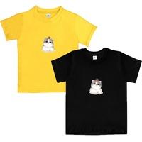 兒童短袖上衣 純棉卡通兒童短袖T恤 圓領韓版潮T DW02[DM商城]