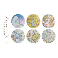 *FollowV*日本連線《預購》角落生物 恐龍展限定 企鵝/貓咪/白熊/炸豬排/炸蝦 單個徽章抽抽樂 SAN-X