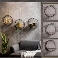 Modern Nordic Wall Hanging Shelf Rack Bookshelf Hexagon Geometric Home Decorations