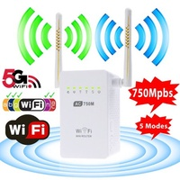 Wifi Range Extender, TSV AC750 750 Mbps Wifi Repeater Signal Booster Amplifier Dual Band 2.4GHz/5GHz