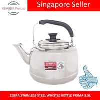 ZEBRA STAINLESS STEEL WHISTLE KETTLE PRIMA 3.5L