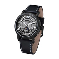 ARBUTUS AUTOMATIC AR912BBB STAINLESS STEEL BLACK MENS WATCH
