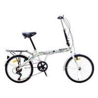 ALEOCA จักรยานพับได้ รุ่น Esecuzion ล้อ 20 นิ้ว 6 สปีด สีขาว/เขียว พร้อมไฟท้าย