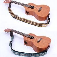Vintage Style Guitar Strap Leather End-Blue for Guitar Player