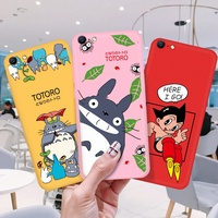 Cute Soft TPU Case For OPPO R7S R9S R11 R11S F1 F3 Plus R15 R17 Pro Cartoon Totoro Painted Cover