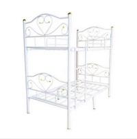 ลดกระหน่ำ!! เตียงเหล็ก 2 ชั้น อย่างดี สีขาว ขนาด 3.5 ฟุต ขา 2 นิ้ว สามารถแยกเป็นเตียงเดี่ยว 2 ตัวได้