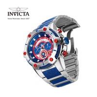 【INVICTA】 x MARVEL漫威聯名款 美國隊長 雙色男士計時腕錶 51.5 mm