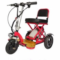 Ninglife Scoot  48V 250W  3 Wheels Scooter  E-Scooter  Electric Scooter  Foldable  Stable  Red  Black