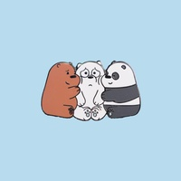 We Bare Bears Hug Hard Enamel Pin  We Bare Bears Badge  We Bare Bears Pin  WBB Pin  Cute pins  Enamel pins  Bear pins