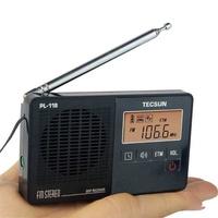 Radio DSP FM Radio Stereo Portable Professional Radio Receiver ETM Clock Alarm Black