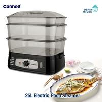 [CORNELL] CFSEL20L / 25L electric food steamer / safety mark / 1-year local warranty