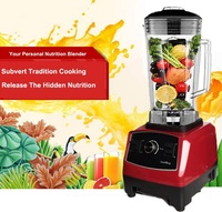 Heavy Duty Commercial Blender Mixer High Power Food Processor Ice Smoothie Bar Fruit Electric Blender