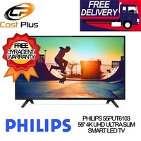 PHILIPS 55PUT6103 55 4K UHD ULTRA SLIM SMART LED TV ** 3 YEARS PHILIPS WARRANTY ** FREE DELIVERY !!