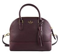 [KATE SPADE NEW YORK] Kate Spade Carli Mccall Street Pebbled Leather Satchel Crossbody Bag Purse Han