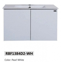 RUBINE Stainless Steel Basin Cabinet - RBF-1384D2 BK/WH