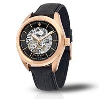 ★MASERATI WATCH★-瑪莎拉蒂手錶-黑金機械款-R8821112001-錶現精品公司-原廠正貨-鏡面保固一年