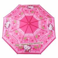 正版原裝 凱蒂貓 Hello Kitty 兒童雨傘 三折傘-KT和草莓款