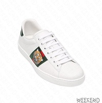 【WEEKEND】 GUCCI New Ace Tiger 老虎頭 皮革 休閒鞋 457132
