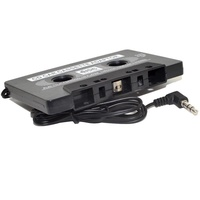 Car Cassette Tape AUX CD Audio Converter Adapter for Phone MP3 Player Black