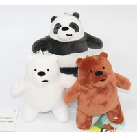3pcs We Bare Bears Keychains Toys Panda Bear