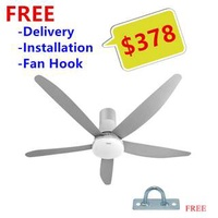 "Panasonic 60"" Ceiling Fan with LED 5 Blades DC Motor (FREE DELIVER+INSTALLATION+FAN HOOK) New"