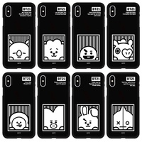 KPOP BTS BT21 NEW Official Merchandise-Wappen Color Soft Phone Case for iPhone