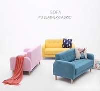 Sofa Fabric Sofa Bed Office Furniture Living Room Sofa  Lazy Sofa 1Seater 2 Seater 3 Seater Sofa PU
