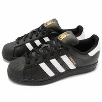 【ADIDAS】SUPERSTAR 愛迪達 金標 貝殼頭 休閒鞋 運動鞋 情侶鞋 黑色 男女鞋 -B27140