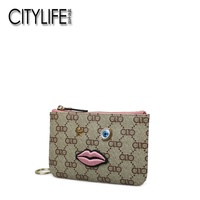Living Ms. CITYLIFE's purse in the city is new style of floral carry small change to wrap a mini small wallet clutch
