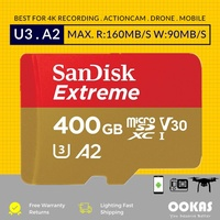 SanDisk Extreme 400GB 256GB 128GB 160MB/s Micro SD Memory Card A2 Class 10