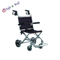 ALIVIO Lightweight Foldable Transit Wheelchair With Folding Armrest And Brakes With Bag WheelChair