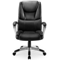 US exclusive Merax Ergonomic Office Chair High-Back PU Leather Executive Chair Rotating Lift Chair Modern Computer Chair Folding Chair with Lumbar Support