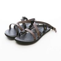 ARGIS Vibram雙色牛皮羅馬涼鞋 【33125黑 灰色】日本手工製