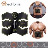 ecHome ABS Muscle Stimulator Six pad Electrical Training Gear Body Shape Fit