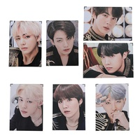 Cianowegy Kpop BTS Bangtan Boys BTS Wings Official Premium Poster Photocard Photo Frame Poster Large Photo Card Postcard, Fans Collection Version, 14.4×9.3 Inch