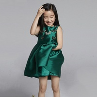 &quot Arbutus&quot  2016 spring girls '  pleated sundress Crow Butterfly dress smart customizatio