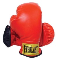 Everlast Laceless Gloves (Red, Small) - intl