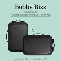 XD Design Bobby Bizz The Best Business Briefcase and Backpack - Original