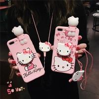 💖vivo X23 X20 Y83 Y71 Y55 Case Soft Cartoon Cat Cover With Stand