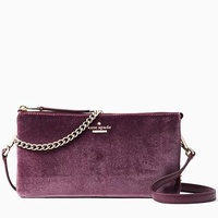 Authentic Kate Spade Dawn Place Velvet Crossbody Bag