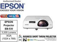 Epson EB-530 Short Throw Projector bundle with gift : 32GB flash drive ** Free $40 NTUC Voucher Till 2nd Mar 2019 ** EB530