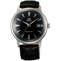 Orient Bambino โดมคริสตัลญี่ปุ่นอัตโนมัติสีดำ Gent's นาฬิกาหนัง SAC00004B0