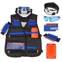 Kids Tactical Vest Kit for Nerf Guns N-Strike Elite Series Tactical Vest Set: Nerf Gun Jacket For The Nerf N-Strike Elite Series