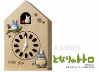 日本宮崎駿 Totoro 龍貓 木製屋型 咕咕鐘/掛鐘/桌鐘/時鐘《 日本原裝 》★質感很棒★ Zakka'fe
