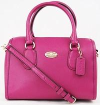 (Coach) Coach 33329 Mini Bennett Satchel Crossbody Bag Cranberry-