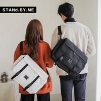韓國潮牌 STANd.BY.ME 723 帆布郵差包【韓國直送】