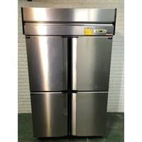營業用風冷白鐵全冷凍四門冰箱 近全新 107年製造 冰櫃 風冷 氣冷 自動除霜 冷藏冰箱 營業用冰箱 B266-予新傢俱