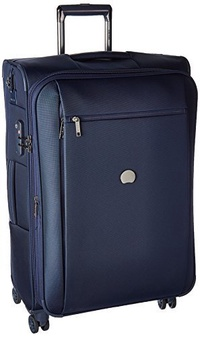 DELSEY Paris Delsey Luggage Montmartre+ 25 Inch Expandable Softside Spinner Suitcase, Navy