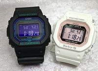 支持戀人們的G打擊一對表G-SHOCK一對手錶GSHOCK G打擊卡西歐男女兼用GW-B5600BL-1JF BGD-5000-7DJF數碼電波太陽能禮物禮物包免費留言卡g-shock的聖誕禮物 Jewelry time Murata of watch
