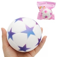 Star Football Squishy 9.5cm Slow Rising With Packaging Collection Gift Soft Toy